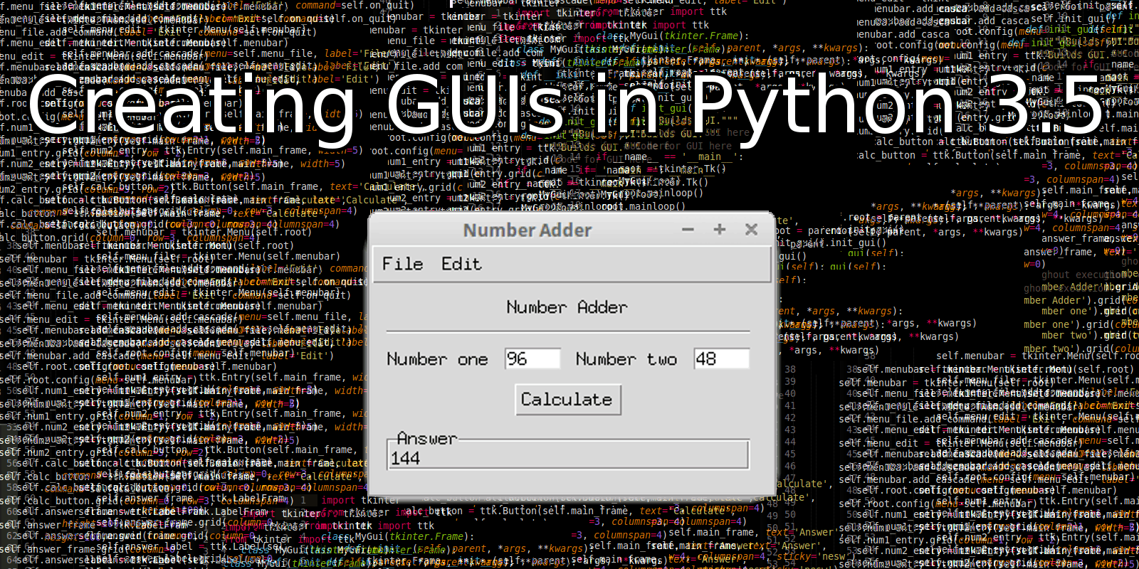 How to Build a GUI in Python 3 5 - Data Dependence
