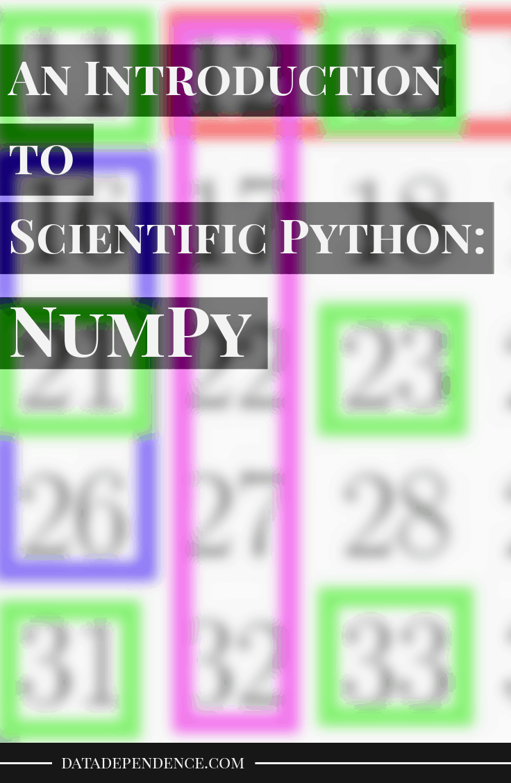Scientific python: numpy